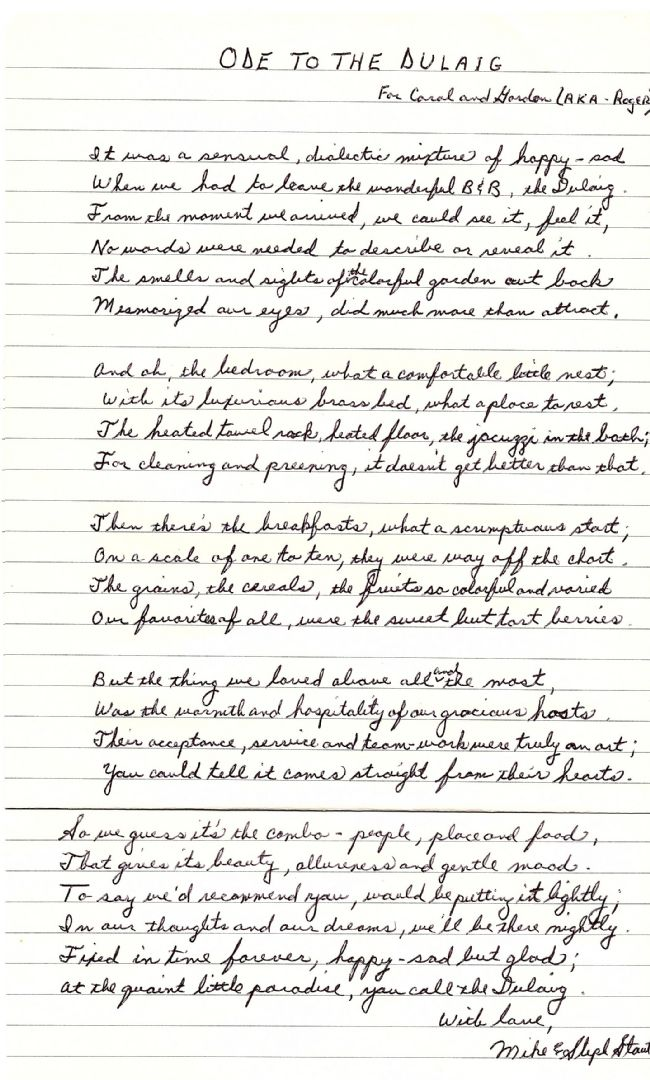 "An ""Ode to The Dulaig"" by musician Mike Stout!"