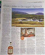 The Times Scotch Malt Whisky article including The Dulaig