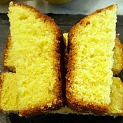 REALLY lemon drizzle cake, with stunning colour thanks to the eggs from our own chickens.om the eggs