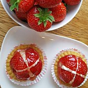 Strawberry Tarts....with  strawberries grown here at The Dulaig