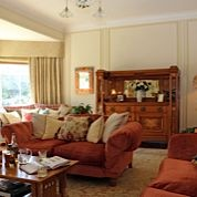 Relax in our sunny drawing room