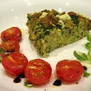 Vegetarian Specials include this Spinach, Feta and Lemon Bread Pudding