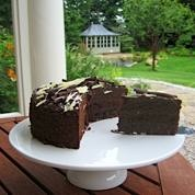Chocolate Cake on the terrace