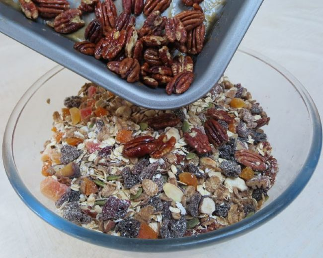 Our muesli - and it tastes even better than it looks