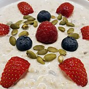 Beautiful Bircher Muesli with our own home made yogurt