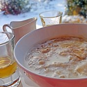 Porridge, Scotch Malt Whisky, Heather Honey and Cream - what better when it is cold outside?