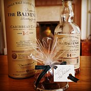 Handmade by The Cake Fairy at The Dulaig, fresh cream chocolate truffles, with The Balvenie Malt Whisky.