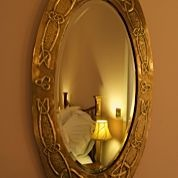 Antique mirror in Benson Room