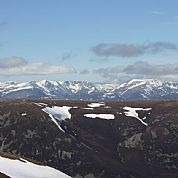 View over the Cairngorms from An Socach